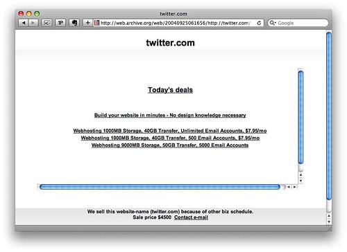 Twitter 2004 Setiembre