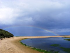 Rainbow (f_shields) Tags: sea beach rainbow sand su s6 eastlothian peffer scoughall peffersands s5800 suholidays