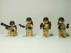 American Soldiers (Smifery) Tags: soldier war desert flood wwii halo battle trench american skirmish brickarms