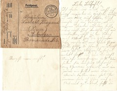 letter from Fritz to Lisbeht (anna wilder) Tags: wwi krieg ww1 1wk soldat feldpost kurrent
