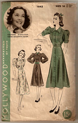 Hollywood 1645 (ZipZapKap) Tags: fashion vintage pattern sewing hollywood mgm 30s maureenosullivan