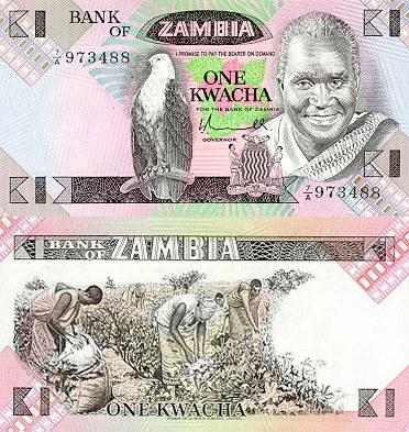 1 kwacha Zambia 1980-88