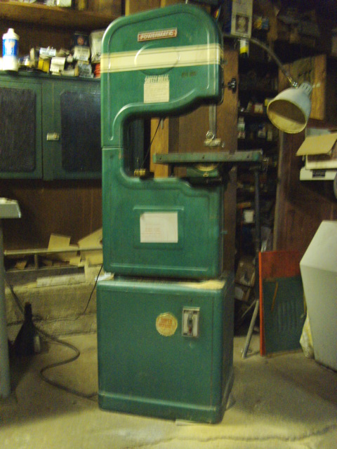 Dad's Powermatic Band Saw