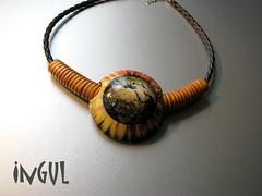 Wettbewerb - Afrika - Variante3 (Ingul-design) Tags: unique jewelry polymerclay fimo kato wettbewerb handarbeit unikatschmuck handcraftet
