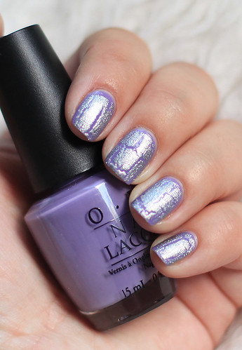 OPI PLanks A Lot with OPI Silver Shatter