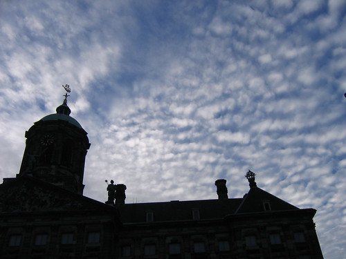 mackerel sky over Amsterdam