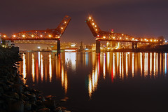 Broadway Bridge (Jon Asay ) Tags: bridge night oregon river portland nikon broadway daewoo 1855mm challenge willamette