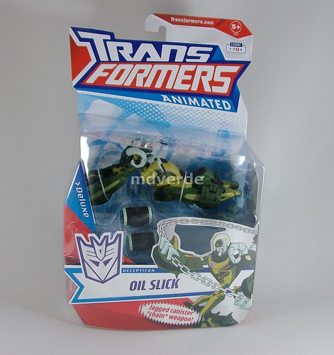Transformers Oilslick Animated Deluxe - caja
