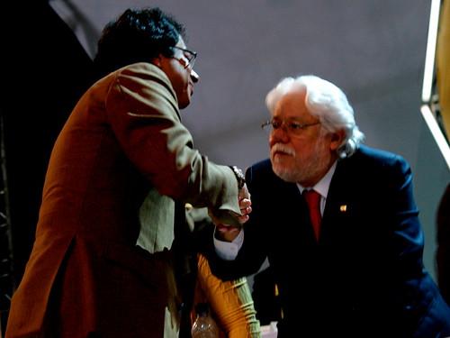 Gustavo Petro y Carlos Gaviria en el II Congreso del Polo Democrático Alternativo