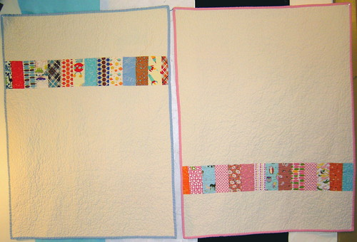 Two Baby Coin Quilts - Back
