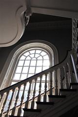 stairway, Memorial Church, Harvard (Ed Brodzinsky) Tags: cambridge architecture architecturaldetail interior massachusetts harvard stairway memorialchurch harvarduniversity ems interiordesign escaleras godslight appletonchapel golddragon escalerasstairs seenonflickr visipix edbrodzinsky