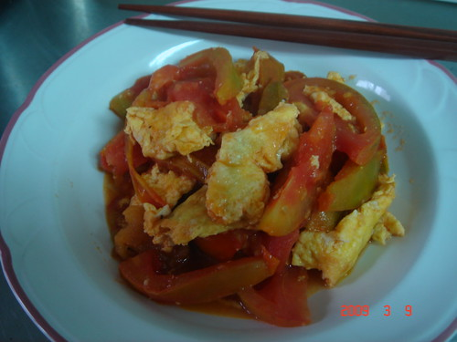 Scrambles Egg with Tomato (Chinese Style)