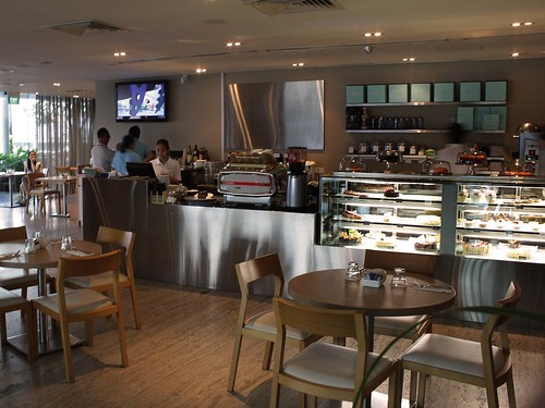 Interior of Privé bakery café