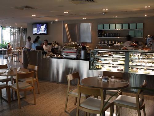 Interior of Privé bakery café