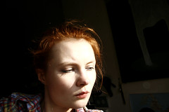 after_0801 (mariczka) Tags: red sun selfportrait me girl face sunshine contrast digital canon redhead borrowedcamera audel explored canoneos400ddigital mariczka 3zstudio