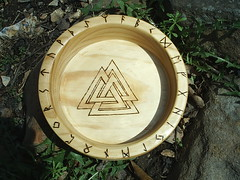 Viking Blot Bowl (dragonoak) Tags: wood woodwork handmade bowl custom viking blot crafted dragonoak