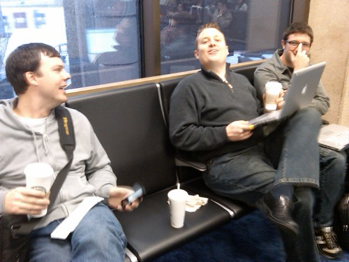 Day 1: On same flight with @earwood, @daved and @kevinfrey