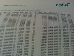 Einzelverbindungsnachweis von ePlus