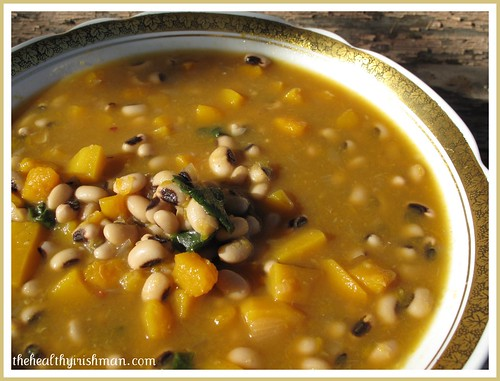Black Eyed Pea & Butternut Squash Soup