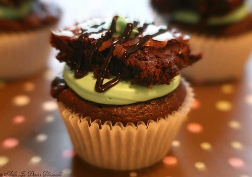 Devil´s Food Mint Brownie Cupcake