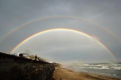 Double Rainbow (e-kamakura) Tags: sky beach japan rainbow nikon kamakura d2x nikkor shichirigahama blueribbonwinner specnature gettyimagesjapan13q2