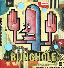 Bunghole (rikcat) Tags: art collage illustration painting artwork paint artist acrylic urbanart popart 2009 beavis beavisandbutthead rik bunghole popsurrealism catlow rikcatlow rikcat pervasiveart urbanpopart rikcatcom