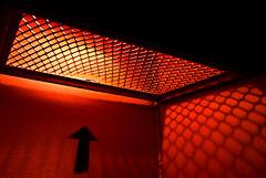 Escape (janbat) Tags: light red black paris rouge nikon noir escape lumière tokina1224 arrow d200 f4 ladéfense acier flèche alexandrecalder jbaudebert