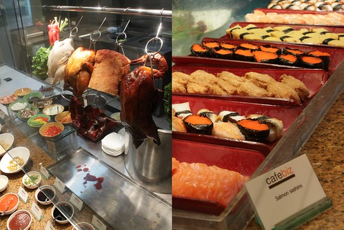 Oriental roast station and Japanese delights