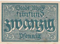Alzey, 25 pf, 1919 (Iliazd) Tags: germany local 1922 1917 notgeld papermoney inflationary germancurrency emergencymoney germanpapermoney