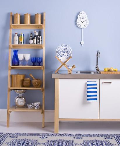 Cheerful Blue Kitchen Farrow Balls Lulworth