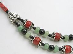 Gypsy Flamenco Beaded Necklace (Rose_of_Sharon_Jewelry) Tags: beadednecklace coralbeads handmadenecklaces