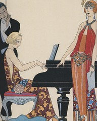 Incantation (1922-23) (MsBlueSky) Tags: 1920s party men art beauty women piano artdeco elegant 1922 flappers 1923 georgebarbier