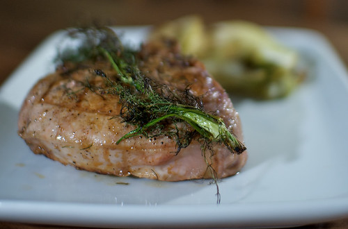 pork chops with grilled fennel
