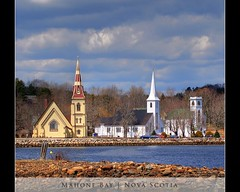 The Three Churches of Mahone Bay (danrsnyder) Tags: canada church nova photoshop bay novascotia ns sony united churches landmarks cybershot explore adobe scotia lutheran hdr anglican mahone southshore mahonebay cs3 photomatix dansnyder 9exposure mywinners lighthouseroute dsch50 thethreechurchesofmahonebay danrsnyder