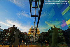 Daytime Reflection of London St.Pauls Cathedral (davidgutierrez.co.uk) Tags: city uk travel blue england sky urban reflection building london colors beautiful sunshine yellow architecture clouds buildings wonderful spectacular geotagged photography photo interestingness fantastic arquitectura cityscape angle cathedral image britain outdoor sony centre religion stpauls cities cityscapes dramatic bluesky center icon structure symmetry architectural explore londres architektur historical sensational metropolis daytime alpha stpaulscathedral londra impressive dt municipality edifice cites sirchristopherwren f4556 1118mm sonyalpha  sonydslra350 sony1118mm sonyalphadslr350 sonyalphadt1118mmf4556lens daytimereflectionof daytimereflectionoflondon sonyalphadt1118mmf4556 sony350dslra350