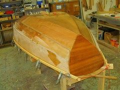Helens Nutshell built at the Duck Flat boatbuilding school.