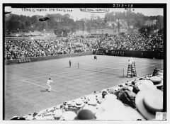 Tennis match for Davis Cup - Rice [and] McLoughlin  (LOC) (The Library of Congress) Tags: blackandwhite rice wide tennis libraryofcongress tenniscourt tennisplayer mcloughlin daviscup tennisracquet tennisplayers xmlns:dc=httppurlorgdcelements11 dc: