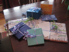 beautifully wrapped gifts from Aymi
