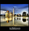 Puchong Mosque (Jayy Han) Tags: world blue light cloud lake colour reflection building water contrast landscape gold evening interesting nikon shiny asia exposure flickr photographer muslim islam tripod mosque victory architectural malaysia land kualalumpur framing tamron hdr masjid beginner foreground stockphoto beutiful d80 flickrsbest colorphotoaward jayhan jayyhan fotopiece