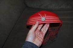 Hat, front detail