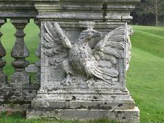 Eagle carving on the stone balustrade, Cliveden House (Thorskegga) Tags: england english stone garden carved eagle buckinghamshire grade ii british cliveden ballustrade heraldic