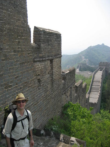 William in Front of Great Wall at Jīnshānlǐng