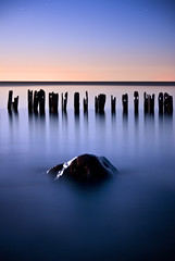 Fading Blue (Explored) (Insight Imaging: John A Ryan Photography) Tags: toronto ontario water rock lakeerie fullmoon aficionados blueblueblue erieau chathamkent pentaxk10d wwwinsightimagingca johnaryanphotography