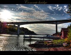 Concrete Bridge (Johan Runegrund) Tags: nikon hdr bryggan båt brygga tjörn båtar orust d40 bryggor colorphotoaward skåpesund båtarna bryggorna