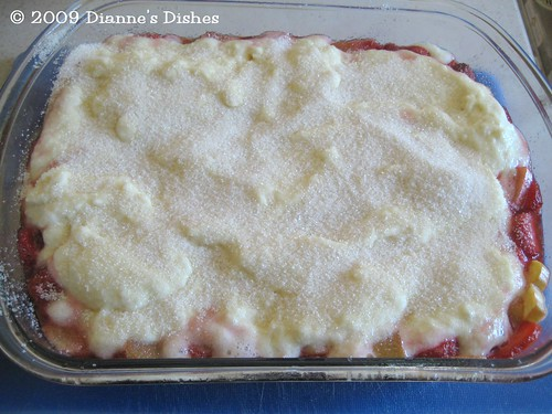 Strawberry Rhubarb Cobbler: Ready to Bake
