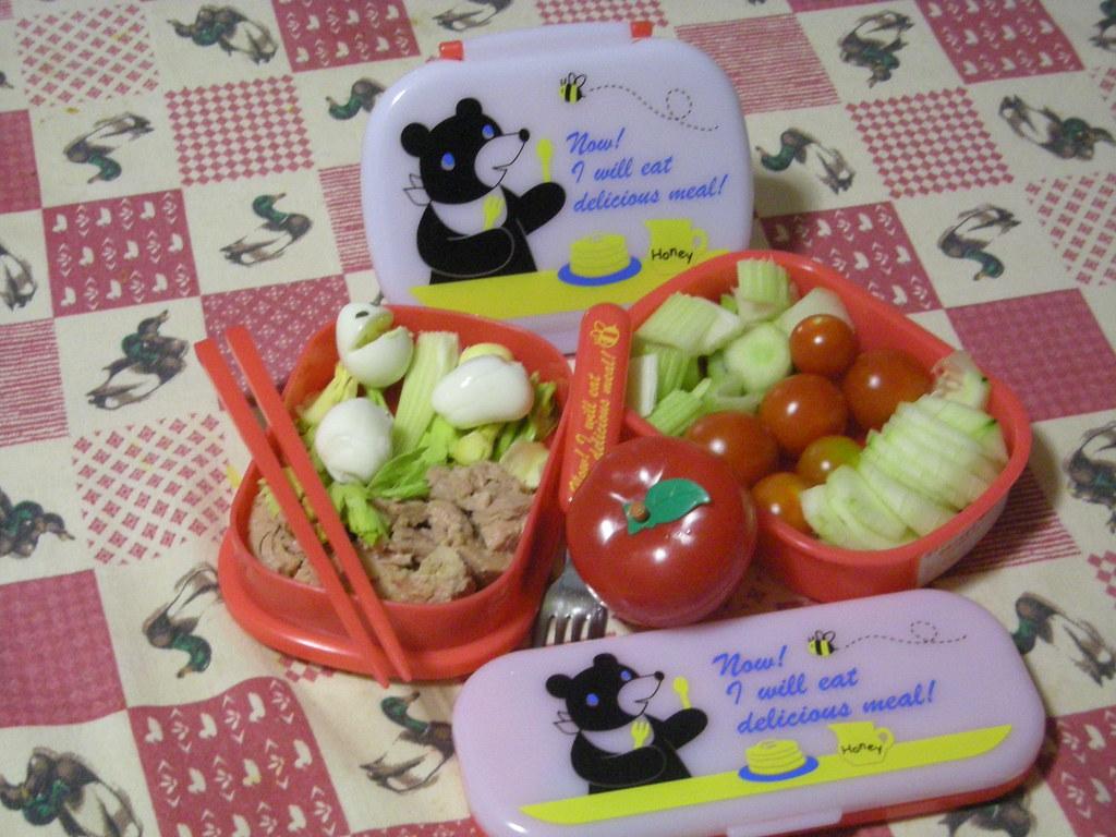 Bento bear's delicious meal
