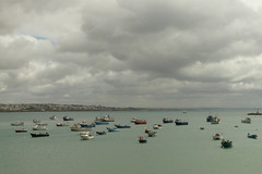 P1010527 (© fco_jl) Tags: sea portugal boats day view cloudy dusk lisbon nubes barcas