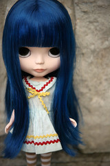 Vintage sailor dress (Skunkboy Creatures.) Tags: ccc blythe custom cancancat melacacia