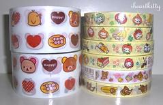 san-x deco tapes (iheartkitty) Tags: cute sticker wide tape kawaii deco rilakkuma sanx nyanko korilakkuma