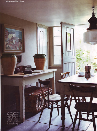 British Country Living: Slate Floored Kitchen